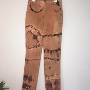 Unique bleached jeans